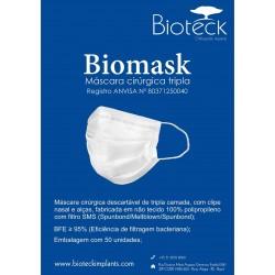 Biomask Máscara Cirúrgica Tripla